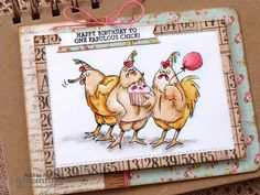 Spring Chickens with Therm O Web and Art Impressions
