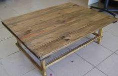 Resultado de imagem para mesa madeira demolição
