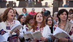 Women of the Wall prayer service, from left to right- Anat Hoffman (2012 J Street Gala keynote), MK Stav Shaffir (2012 Conference opening night keynote) and MK Tamar Zandberg