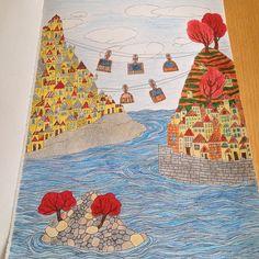 Podróżuję po wyspach ❤️❤️❤️#wyspy #anitagraboś #coloringbook #kolorujemy #kolorowanie #kolorowanka #kocham #kolorować#kolorowankadladorosłych #zabierzciemikredki #zabierzciemiinternety