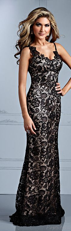 Terani Couture Black Lace