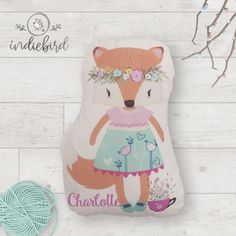 Plush fox pillow Personalised Cushions, Personalised Gifts, Fox Pillow, Unique Gifts, Plush, Pillows, Disney Princess, Personalized Gifts, Customized Gifts