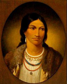 La Figlia di Asabonish (Il Procione). Era figlia del capo degli Ahtawwah (Ottawa) di Wequimecong, vicino a Manetoawning sulla Manitoulin Island orientale.