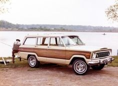 1975 Jeep Custom Wagoneers were available with a wider section of wood trim for the first time. While this was discontinued for 1976, the wider wood trim made a return in mid-1978.