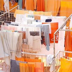 Clothes lines in India.