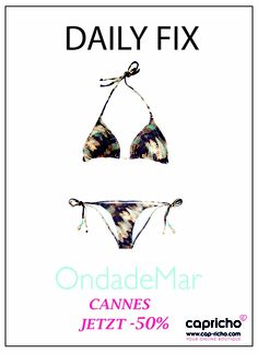 HAPPY FRIDAY wünscht Euch Cap-richo und Ondade Mar. http://www.cap-richo.com/en/ondade-mar-cannes-celebrities-bikini.html