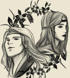 Aegnor and Andreth Fanart by LeeYunna