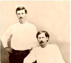 Bat Masterson and Wyatt Earp 1876
