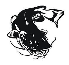 """Catfish decal 5"""" x 5"""" fishing fish"""