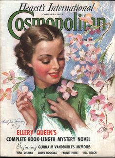 "Cosmopolitan magazine, JUNE 1936 Artist: ""Spring Blossoms"" Bradshaw Crandell"