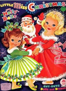 Little Miss Christmas and Holly Belle, 60s Paper Dolls