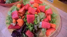 Salat, Möhre, Erdbeere, Wassermelone.