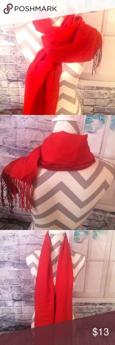 Lovely red and dark red scarf A lovely half red and half dark red scarf. Very chic and stylish !! Accessories Scarves & Wraps