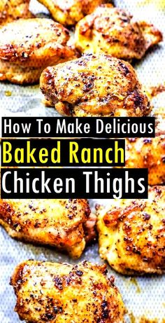 #delicious #chicken #recipes #thighs #baked #ranch #make #easy #how #to How To Make Delicious Baked Ranch Chicken Thighs | Easy RecipesHow To Make Delicious Baked Ranch Chicken Thighs | Easy RecipesHow To Make Delicious Baked Ranch ... Baked Ranch Chicken, Ranch Chicken Recipes, Baked Chicken Recipes, Boneless Chicken Recipes Easy, Easy Meat Recipes, Dinner Recipes, Easy Meals, Cooking Recipes, Healthy Recipes