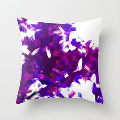 BLOSSOMS - PURPLE BLUE Throw Pillow by Ylenia Pizzetti - $20.00