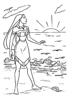 Pocahontas And Kocoum Pocahontas Coloring Pages Pinterest
