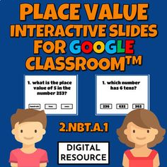 Interactive Google Slides math game covering place valueCCSS 2.NBT.A.1 Distance learning2 challenges, 10 multiple choice self-checking problems eachDigital product - no prep!This is a digital product for Google Classroom use.Please purchase this product only if you know how to use it.The Product PDF... Number Value, Multiple Choice, Place Values, Telling Time, Google Classroom, Math Games, Elementary Schools, Distance, Self