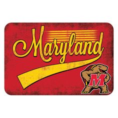 Maryland Terps NCAA Kitchen Rug (Swoosh Series) (20x30)