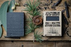 Cedar  Eucalyptus Activated Charcoal Bar Soap. by CraftsmanSoapCo