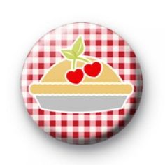 Cherry Pie Button Badges baking cooking badges