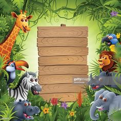 High Resolution AI and Illustrator EPS 10 included. Each element is named,grouped and layered separately. Very easy to edit. Safari Party, Safari Theme Birthday, Animal Birthday, 1st Boy Birthday, Birthday Party Themes, Safari Thema, Safari Invitations, Safari Decorations, African Animals