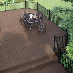 Cool Deck, Diy Deck, Deck Balusters, Outdoor Railings, Patio Railing, Metal Railings, Patio Deck Designs, Back Deck Designs, Aluminum Decking