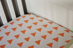 Fitted Crib/Toddler Sheet  ModFox Exclusive  Coral by ModFox, $55.00