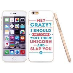 "Minisuit Ultra Thin Design TPU Case for iPhone 6 (4.7"") - Crazy Unicorn Text"