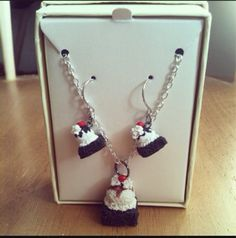 Brownie sundae necklace & earring matching by FlowerChildCharms Check out Seasonal Items & Specials RT PLZ