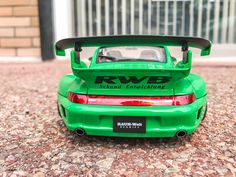 Liberty Walk, Racing Wheel, Porsche, Japan, Green, Model, Scale Model, Porch