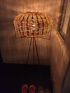 Lampe abat-jour osier
