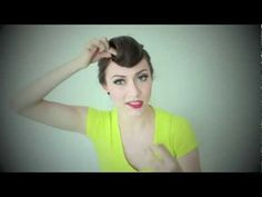 Karmin Suicide Roll Hair Tutorial - she is just super cute as she explains this.  Not usually my style, but will have to try it