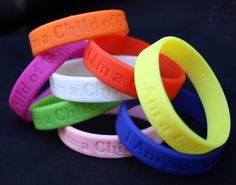 "Super cute silicone bracelets with ""I Am a Child of God"" (2013 primary theme) on them. Junior size, only 80 cents a piece. From LDS greats"