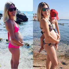 SCHWANGER AM MEER 😍 Zwei mal schwanger am Meer. Links mit mir höchstpersönlich 😎 Rechts mit meiner Sis 👶 #schwanger #pregnant #instagram #lustig #humor #babybody Am Meer, Weekend Fun, Good Times, Bikinis, Swimwear, Pregnancy, Thong Bikini, Pretty, Parenting Styles