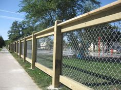 wood chainlink fence - Bing Images