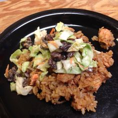 Polynesian barbecue cubed turkey with coleslaw  | Small Town Living in Nevada