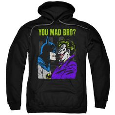 DC/MAD BRO-ADULT PULL-OVER HOODIE-BLACK