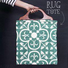 alisaburke- turn a rug into a tote bag