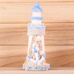 Marine Wood Beacon Lighthouse Anchor Net Home Party Table Nautical Decor