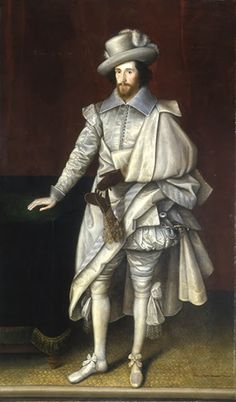"""Sir Henry Cary or Carey, 1st Viscount of Falkland (c.1576-1633), Member of Parliament for Hertfordshire, Lord-Deputy of Ireland"" by Marcus Gheeraerts the Younger (1603)"