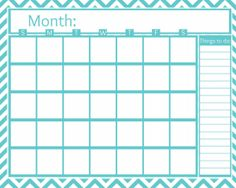 FREE Printable Monthly Calendar - All About the Mommies