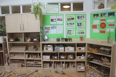 Construction area and documentation panels - AISWA International Study Visit - Wingate Children's Centre, Co Durham - Inspired EC ≈≈
