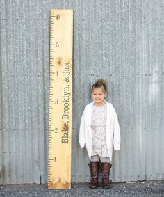 Look what I found on #zulily! Black Personalized Growth Chart Vinyl Decal #zulilyfinds