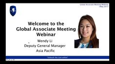 Recording of LEO Global Associate Meeting 1 May 2017 - Presented by Wendy Li, Assistant General Manager Asia Pacific Region as Dan was returning from Kuala Lumpur. Wendy reviewed the main announcements from the Global Annual Conference and revealed the LEO Holiday and Annual Global Conference in Mauritius in 2018.