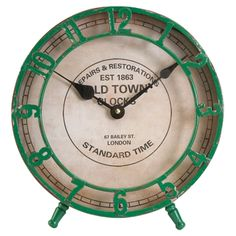 great clock, love the vintage style.