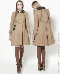DEAR CREATURES Modcloth Charlotte Coat S NWOT