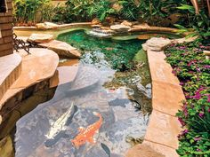 Koi Pond, our next backyard project. Love this one.