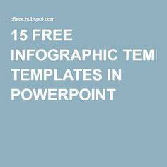 HOW TO CREATE INFOGRAPHICS IN POWERPOINT - 15 FREE INFOGRAPHIC TEMPLATES