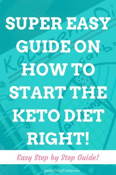 Information overload when it comes to the ketogenic diet? I hear ya! This super easy, step by step keto guide for beginners tells you exactly what you need to know now. From simple recipes to supplements and tips, this is all you need. #ketodiet #keto #ketogenic #ketogenicdiet