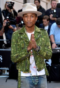 Pharrell is now a fashion icon; a first look at Cara Delevingne in 'Paper Town'